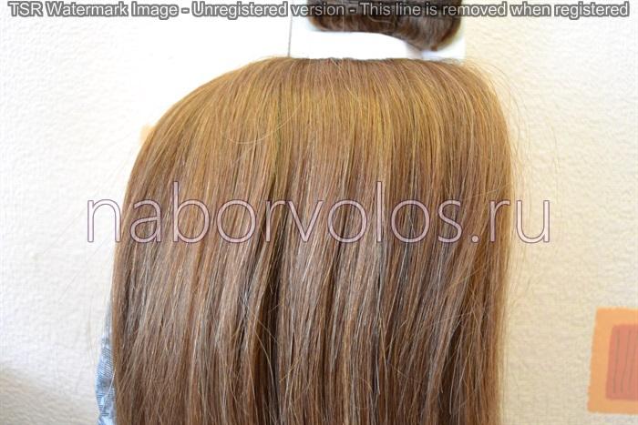 натуральные волосы для наращивания русые от 60 см должны